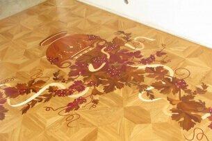 Виноградная лоза - художественный паркет