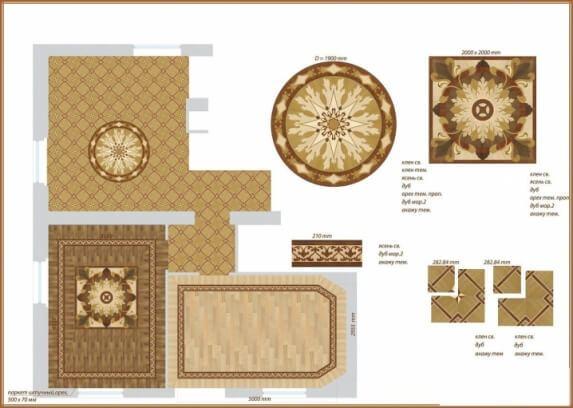 Дизайн проект дворцового паркета