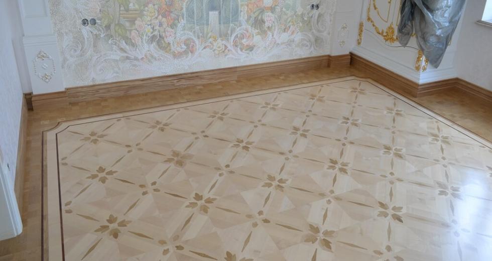 Паркет геометрический Римская плетенка
